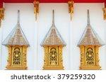 golden windows in thai temple   Shutterstock . vector #379259320