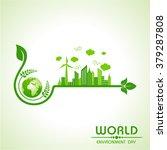 world environment day greeting...   Shutterstock .eps vector #379287808