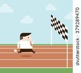 illustration of businessman is... | Shutterstock .eps vector #379289470