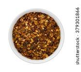 crushed red pepper in a ceramic ... | Shutterstock . vector #379301866