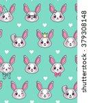 seamless pattern. cute little... | Shutterstock .eps vector #379308148