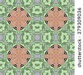 kaleidoscopic ornamental pattern | Shutterstock . vector #379309036
