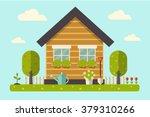 vector illustration of a house... | Shutterstock .eps vector #379310266