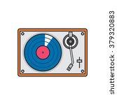 record player vinyl record... | Shutterstock .eps vector #379320883