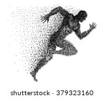 a sprinter made from small dots | Shutterstock .eps vector #379323160