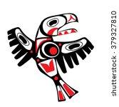totem bird indigenous art ... | Shutterstock .eps vector #379327810