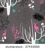modern wildlife wallpaper design   Shutterstock .eps vector #37933000
