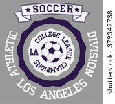 soccer badge los angeles... | Shutterstock . vector #379342738