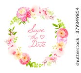spring fresh rose  ranunculus ... | Shutterstock .eps vector #379349854