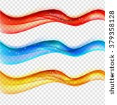abstract colored wave set on... | Shutterstock .eps vector #379358128