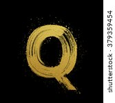 gold glittering letter q in...   Shutterstock .eps vector #379359454