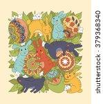 easter illustration with... | Shutterstock .eps vector #379368340