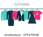 shirts  sweatshirt  jacket and... | Shutterstock .eps vector #379370548