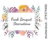 watercolor logo template.... | Shutterstock . vector #379374400