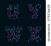 abstract letters u v w x logo... | Shutterstock .eps vector #379376629