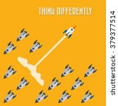think differently   being... | Shutterstock .eps vector #379377514