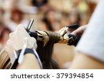 stylist hairdresser doing... | Shutterstock . vector #379394854
