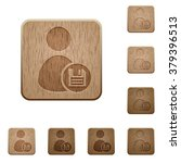 set of carved wooden save user...