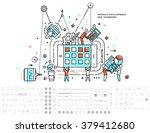 flat style  thin line art... | Shutterstock .eps vector #379412680