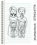 happy family of four and two... | Shutterstock .eps vector #379414774