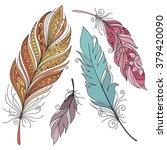 vector set of colored ornate...   Shutterstock .eps vector #379420090