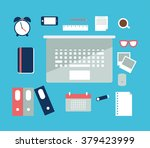 vector illustration of business ... | Shutterstock .eps vector #379423999