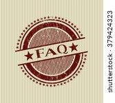 faq rubber grunge stamp   Shutterstock .eps vector #379424323