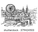 city illustration. hand drawn... | Shutterstock .eps vector #379424503