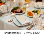 plate at the wedding table | Shutterstock . vector #379431520