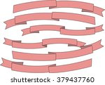 a set of ribbons for design on...   Shutterstock .eps vector #379437760