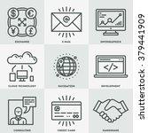 modern assorted global business ... | Shutterstock .eps vector #379441909