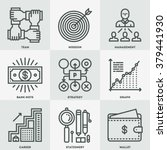 modern assorted business mono... | Shutterstock .eps vector #379441930