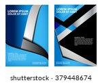 brochure flyer background  | Shutterstock .eps vector #379448674