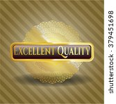 excellent quality gold badge or ...   Shutterstock .eps vector #379451698