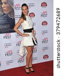 """Small photo of LOS ANGELES, CA - NOVEMBER 11, 2014: Hilary Swank at the gala screening of her movie """"The Homesman"""" as part of the AFI Fest 2014 at the Dolby Theatre, Hollywood."""