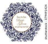 romantic invitation. wedding ... | Shutterstock . vector #379491424
