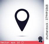 map pin icon | Shutterstock .eps vector #379491868