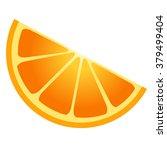 orange slice illustration  | Shutterstock .eps vector #379499404