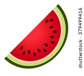 water melon illustration  | Shutterstock .eps vector #379499416
