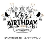 happy birthday to you. hand... | Shutterstock .eps vector #379499470