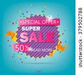 Super Sale Paper Banner. Sale...