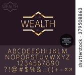 gold logotype for luxury social ... | Shutterstock .eps vector #379508863