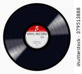 new gramophone red label vinyl... | Shutterstock .eps vector #379513888