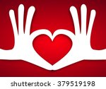 heart of two linked hands  ... | Shutterstock .eps vector #379519198