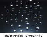 water droplets on a black... | Shutterstock . vector #379524448