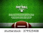 american football top view on... | Shutterstock .eps vector #379525408