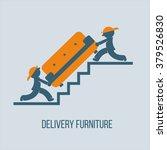 shipping furniture. vector... | Shutterstock .eps vector #379526830