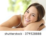 beauty girl with white teeth... | Shutterstock . vector #379528888