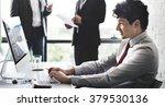 business people marketing... | Shutterstock . vector #379530136