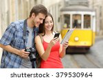 couple of casual tourists...   Shutterstock . vector #379530964